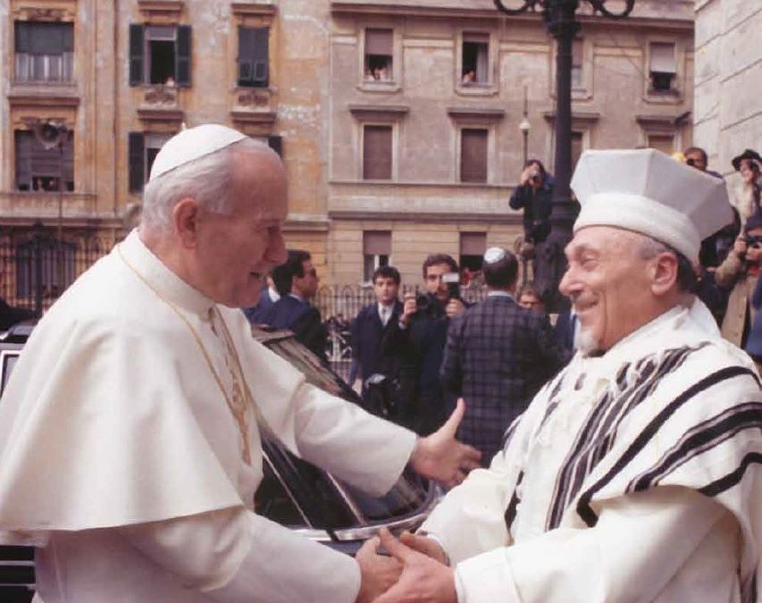 Thirty years after the memorable embrace between Pope Giovanni Paolo II and Rav Toaff